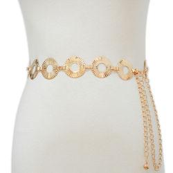 Уникальный золотой пояс цепь для платья Модная женская ремни