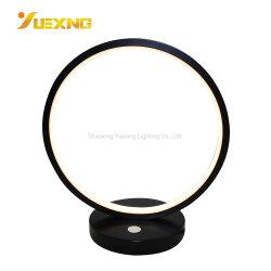 5W LED círculo redondo aluminio moderna lámpara de mesa el anillo de plástico lámpara de escritorio