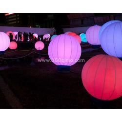 Ihb190 das partes e a utilização no exterior do balão LED inflável para decoração