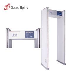 Alta sensibilidade 6 Zonas percorre o Detector de Metais para inspeção de segurança