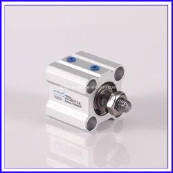 Acero inoxidable estándar compacto delgado cilindro neumático