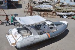 Роскошный Liya надувные плавания под парусом волокна моторной лодки катера