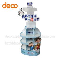 Suporte de monitor de papel de sabão líquido, Prateleira de Exibição de papelão para venda