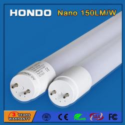 Nano 플라스틱 150lm/W 4FT 형광등 18W를 점화하는 1200mm T8 LED