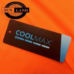 Costume de travail d'orange fluorescent Polyester Coolmax Quick Dry tissu à mailles mèche d'humidité