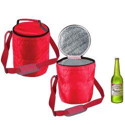 Vat om 420d Koelere Zak van Insualted van de Fles van de Bieren van de Wijn van Oxford van de Polyester de Zachte voor Koel Levensonderhoud