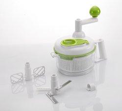 Ensalada de cortador de alimentos el mecanismo de giro manual multi procesador de alimentos - Cortador de Swift, mezclador y el mecanismo de giro
