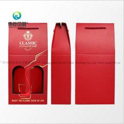 Цветной печати из гофрированного картона для хранения вина упаковке