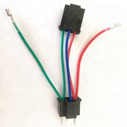 Kundenspezifischer Mann Draht-Verdrahtungs-Kontaktbuchse-Auto-Lampen-Adapter-Kabel des Weibchen-H 4 zum kurzen hellen