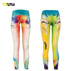 OEM Custom mujer impresión mayorista Polyester Spandex pantalones de yoga