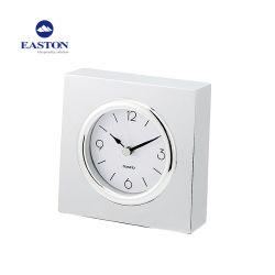 Metálica de acero inoxidable reloj alarma silenciosa para la venta de reloj de mesa