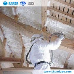 Mousse de polyuréthane rigide de haute qualité pour la construction de mur d'isolement de pulvérisation