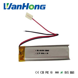 401550pl 280mAh李イオン電池3.7Vエムピー・スリーMP4スマートな腕時計Bluetoothのための再充電可能なリチウムイオン電池のパック
