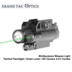 تكتيكيّ 3 [إين-1] [كمبو] من مغنطيسيّة مفتاح اللون الأخضر ليزر جهاز تسديد ومسدّس مدفع [لد] ضوء مع [هد] آلة تصوير