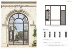 Modernes Flügelfenster-Aluminiumfenster-wasserdichtes Fenster mit Gitter-Entwurfs-Fliegen-Bildschirm für Haus-Projekt