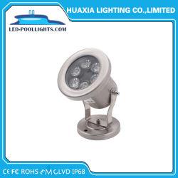 Высокая мощность 12V IP68 6Вт Светодиодные подводного фонаря направленного света