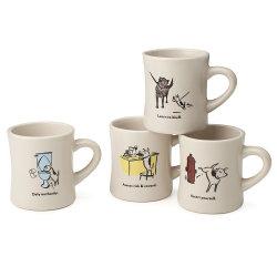 Fabricante de la garantía de calidad Logotipo personalizado Diseño exclusivo de China el hueso nuevo café té Oso Oficina Drinkware Tazas de porcelana de gres cerámico de publicidad tazas
