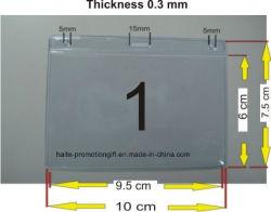 연성 플라스틱 PVC 방수 ID 카드 홀더 이름 배지 홀더를 지웁니다