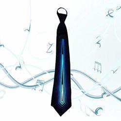 Homens ilumina os laços - Vestuário de LED ativado Som de Retenção da Vela Aquecedora novidade gravata para aniversários Rave festivais de parte o Dia das Bruxas