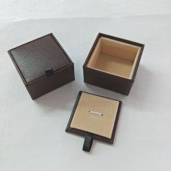로고 스탬핑 커프링크 상자가 있는 튼튼한 판지 팬시 종이