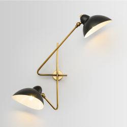 북유럽 디자이너 철 예술 벽 램프가 현대 간단한 철 벽 Deco Wandlamp 연구 결과 거실 침실 침대 곁 램프 LED 벽에 의하여 점화한다