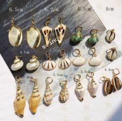 Form-neue Retro übertriebene Tritonshorn-Nischen-Ohrring-Gold-Plated Shell-Ohrringe