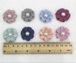 Fiori decorativi artificiali degli accessori dei capelli della perla della fibra della seta 3D Rosa del tessuto Handmade