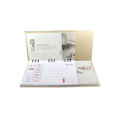 Spirale livre personnalisé Calendrier Le calendrier de papier Note adhésive