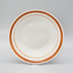La Porcelaine Céramique Vente chaude assiette à soupe avec logo personnalisé
