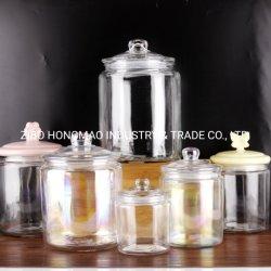 Stellte Glasspeicher-Glas des Fabrik-Zubehör-1L 2L 4L 6L Cylinda für Körner und Essiggurken ein