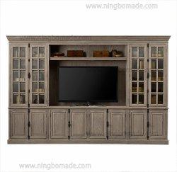 Большими французскими предметы антиквариата и старинная мебель Living-Room в возрасте от сбора данных из дуба массивная древесина 4 стеклянные двери 8 двери из дерева средства массовой информации кабинета,
