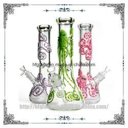 Polvo tridimensional pintado num copo de 7 mm de vaporização fumar Tubo de água de plantas daninhas de vidro