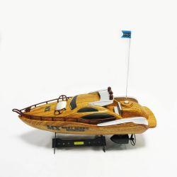 4CH Hot Modèle de course de bateau en bois jouet RC sans fil