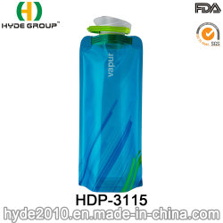 A prueba de fugas de agua al aire libre Deporte plegable Bolsa plegable la botella de agua (HDP-3115)