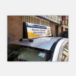 Venda por preço de fábrica na China Ímãs Táxi Slim Publicidade topo caixa de luz