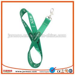 Commerce de gros logo imprimé personnalisé ruban étroit cordon avec boucle en métal