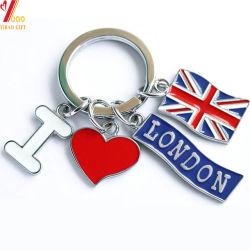 Logo personnalisé pour la promotion de la chaîne de clé d'émail Cadeaux