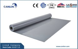 Membrane de toiture en PVC étanche Ply unique feuille avec Bba et ce rapport