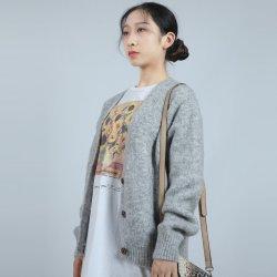 Nova Moda Borders Cardigan roupas femininas suéter moda têxtil
