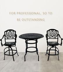 Gussaluminium-Schwarz-/White-Farben-Tisch-Stuhl-Patio-Möbel-Hotel-Set
