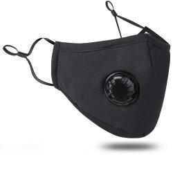 Inhalt! ! ! Verunreinigungs-Schablone mit Ventil-waschbaren Staub-Respirator-Baumwollmund-Schablonen mit austauschbarem Filter für Mann-Frauen