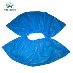 17 * 41 3G Blue White Disposable Waterproof Overshoes PE Shoes 커버