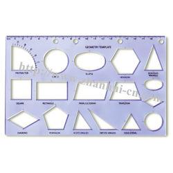 Régua de geometria de plástico (Zhan Hui 009)