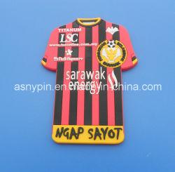 T-shirt de football personnalisés aimant aimants caoutchouc