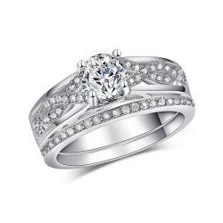 Hot 925 vente de bijoux en argent Ring Set bijoux d'engagement