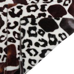 Polyester 100% gedrucktes korallenrotes Flanell-Vlies-Gewebe für Zudecke