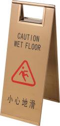 Steel di acciaio inossidabile Caution Wet Floor con Foldable Sign Stand (ZP-86M)