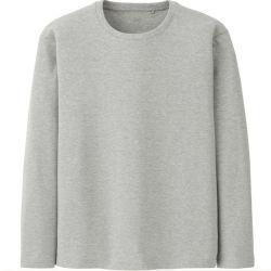 Хизер серый футболки с длинной втулки для мужчин