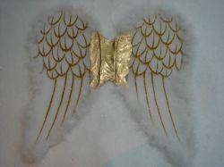 Ala di angelo della piuma della decorazione del partito