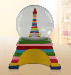 La Neige de souvenirs touristiques Polyresin Paris Globe Globe Boule de Neige de l'eau
